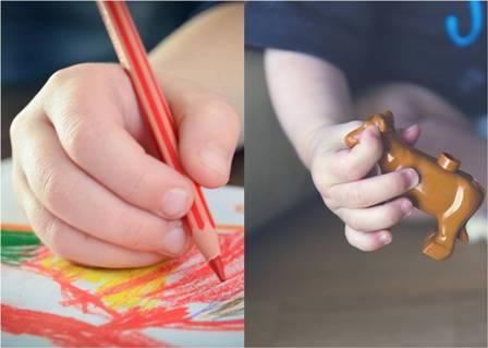 Análisis de colores en juguetes y artículos escolares