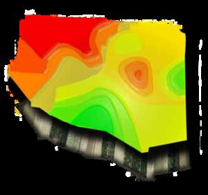 El servicio GIS (sistema de información geográfica) permite a AGQ Labs ofrecer a sus clientes mapas nutricionales basados en el análisis del terreno